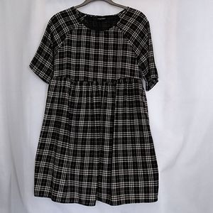 Audrey Dress black and White Small